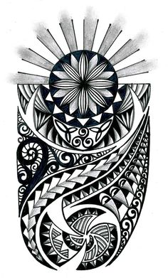 Tongan Tribal Drawings | Polynesian tribal design with celtic elements by thehoundofulster