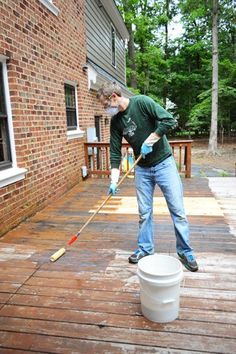 How To Strip & Clean A Deck For Stain | Young House Love