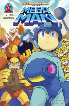 """Read """"Mega Man by Ian Flynn, Patrick """"SPAZ"""" Spaziante available from Rakuten Kobo. Let the Games Begin! Rock was just a simple helper-robot. Now he's the world-saving Mega Man! Armed with only. Playstation, Mega Man 2, Keiji Inafune, Megaman Zero, Comic Art, Comic Books, Nintendo, Fighting Robots, V Games"""