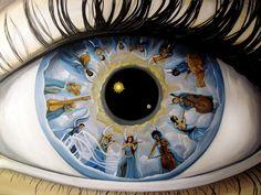 Ojos espejo de mujeres