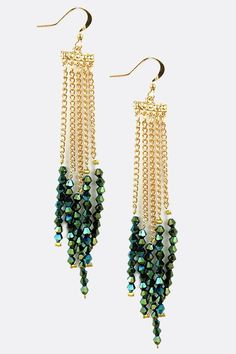 Emerald Crystal Chandelier Earrings | Awesome Selection of Chic Fashion Jewelry | Emma Stine Limited: