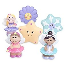 image of Elegant Baby® Fairy Party 6-Piece Bath Squirties