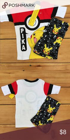 882d9ed9cc Boys 6 New Pokémon Pajamas Short Sleeve Shorts Boys 6 New Pokémon Pajamas  Short Sleeve Shorts Pokemon Pajamas Pajama Sets