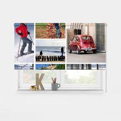 Een sfeervolle ruimte creëren? Met een rolgordijn met daarop jouw eigen foto('s) haal je die heerlijke sfeer n huis! Je kunt zelf de maten aangeven. YouPri maakt het rolgordijn eigen foto speciaal voor jou op maat. Dit rolgordijn is daardoor geschikt voor ieder interieur! #rolgordijn #foto #fotocollage #fotoprint #lichtdoorlatend #verduisterend