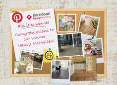 Congratulations to our 'Pin it to Win it!' competition winner, Nancy McMullen! Thanks to everyone who entered - it was tough making a decision as there were so many fantastic boards. See the winning board here: http://pinterest.com/countrystype/mykarndean/