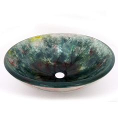 Accent your bathroom decor with this beautiful glass sink bowl. This tempered glass fixture is perfect for any remodeling project.