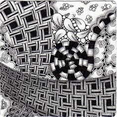what tangle are these squares???    flickr by PaperArtStudio