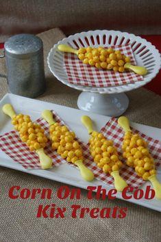 Cute Summer treat. Corn on the cob made from Kix cereal! at Rae Gun Ramblings