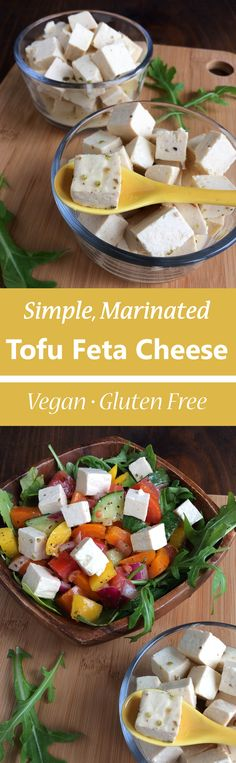 Easy Marinated Vegan Tofu Feta Cheese Recipe