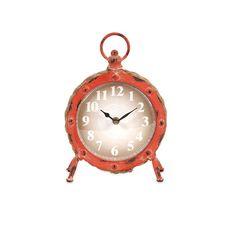 Lane Orange Round Clock