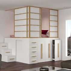 53 Ideas Living Room Furniture Design Small Spaces Murphy Beds For 2019 Space Saving Beds, Furniture Design, Space Saving, Small Room Bedroom, Bed With Slide, Loft Bed, Murphy Bed Plans, Space Saving Bedroom, Organization Bedroom