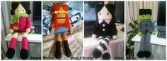 """Hama Style & Amigurumis: Miércoles Addams Amigurumi """"cuadrada"""" - Muñecas muy personalizables [PATRÓN GRATIS]"""
