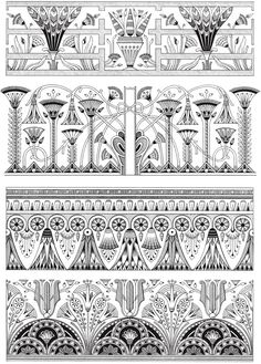 Creative Haven Art Deco Egyptian Designs Coloring Book Welcome to Dover Publications