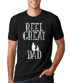 FATHERS DAY SHIRT - Reel Great Dad - Father and Son - Fishing Shirt for Dad - Men's Tee- Small,  med, large, xlarge, XXl, XXXl by Vintageflyclothingco on Etsy https://www.etsy.com/listing/236128732/fathers-day-shirt-reel-great-dad-father