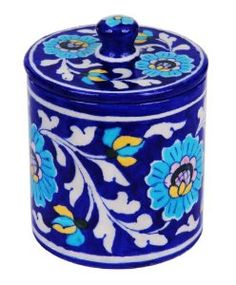 A lovely hand painted jar with a removable lid, to store jam, pickle, sugar or spice, while adding a decorative element to the kitchen. Only for $22.99.