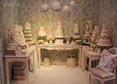 National Wedding Show, NEC by Cotton and Crumbs. looks like heaven! Wedding Fayre, Wedding Cakes, Wedding Ideas, Wedding Show Booth, Cotton And Crumbs, National Wedding Show, Cake Stall, Cake Show, Bakery Display