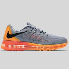 Nike Air Max 2015 Grey Orange Black 698902-080 Mens Running Shoes 335cf61a0d28