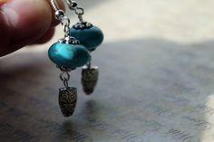 Handmade Turquoise Blue Bead Earring With by ClareyfairyCreations, £3.00