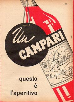 Pubblicità Advertising Werbung 1956 BITTER CAMPARI
