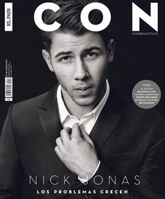 Following a striking appearance on the red carpet for the Elle Style Awards in London, we catch up with Jealous singer Nick Jonas on the cover of Icon magazine. Donning a fine suit with a white dress shirt, Jonas poses for the Spanish magazine's March 2015 issue. Jonas' formal look comes from the spring-summer 2015 menswear collection of Italian fashion brand Emporio Armani. Related
