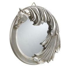 Antique Silver Finish Horse Mirror - Horse Themed Gifts, Clothing, Jewelry and Accessories all for Horse Lovers | Back In The Saddle
