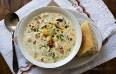 Creamy Pressure Cooker Potato Cheese Soup loaded with chunky potatoes, bacon, corn and two kinds of cheese. A hearty soup ready in just minutes.