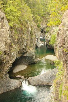 Parque Nacional Radal Las Siete Tazas, Curicó province, Maule Region, Chile (by jpurresti).