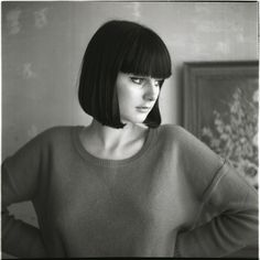 {sleek + retro + modern bob} wish i had the cheek bones for this cut.  I have the hair!