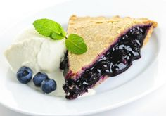 A classic blueberry pie, bookmark for July when they are overflowing.