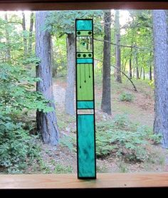Handmade Teal STAINED GLASS Sparkling Panel the perfect addition to your home or cottage decor...