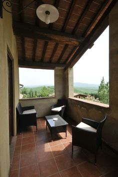The terrace of Viola.  #italy #apartments #lucestraia #tuscany #farmhouse #love  Follow us on Facebook page www.facebook.com/agriturismolucestraia for offers and more information.