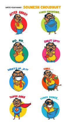 aiyer anna -sticker design for line sticker contest , on Behance