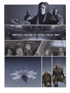 One of the pages of the 'Metabarons' comics by the insanely talented artist Travis Charest. Comic Book Artists, Comic Artist, Comic Books Art, Gravure Illustration, Illustration Art, Travis Charest, Pop Art Pictures, Comic Book Layout, Graphic Novel Art
