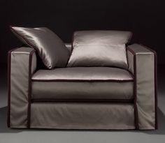 contemporary armchair PILLOPIPE by Paola Navone Casamilano