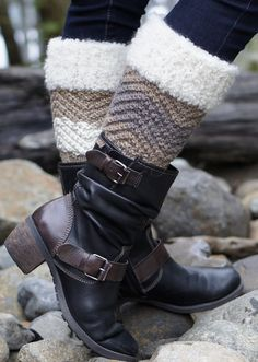 Free Knitting Pattern for Baa Baa Boot Cuffs
