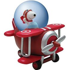 Westland Giftware Peanuts Snoopy Flying Ace Water Globe, 45mm