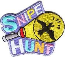Snipe Hunt Flashlight Fun Patch