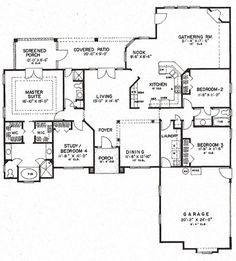 House Plan 4766 00113   Florida Plan: 2,409 Square Feet, 4 Bedrooms, 3  Bathrooms