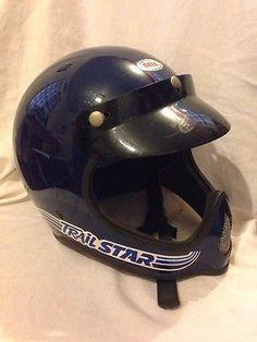 BELL TRAIL STAR MOTORCYCLE DIRT BIKE HELMET VINTAGE 1979 USA SIZE MEDIUM BSA