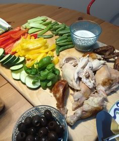 I am forever grateful to Catherine Newman for introducing me to the idea of the breadboard dinner. Easy and uses up leftovers and looks pretty! - Dogs Don't Eat Pizza