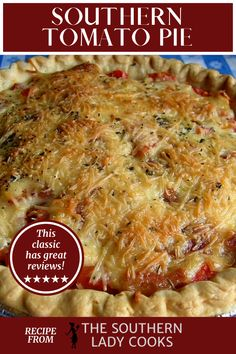 TOMATO PIE, A DELICIOUS SUMMER TREAT - Easy Recipe Side Dish Recipes, Veggie Recipes, Great Recipes, Vegetarian Recipes, Cooking Recipes, Favorite Recipes, Easy Recipes, Dinner Recipes, Dessert Recipes