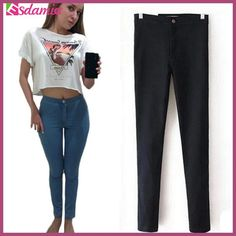 Hot Selling High Waist Jeans Woman Skinny Jeans Femme Stretch Ladies Jeans Slim Lift Hip Denim Pants Trousers For Women