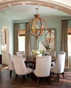 Let your chandelier take center stage and be a conversation starter...