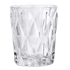 Glas - Vandglas - Diamond - Klar glas - H: 10 cm.