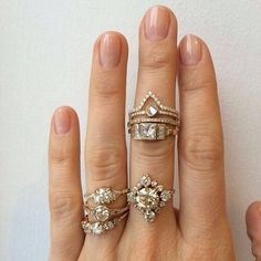 I like the round one in the middle on the ring finger