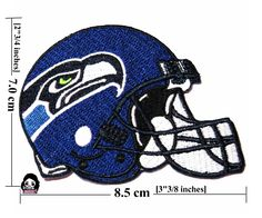 Seattle Seahawks (Hat) Nfl Sport Logo Embroideey Iron - Sewing-Patch On Fabric