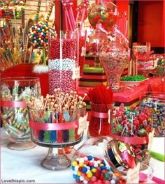 Candy and Sweets party candy sweets party ideas party favors party decorations party fun party idea pictures party candy party favors