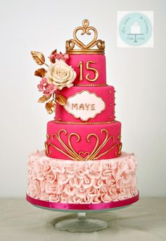 Groovy 58 Best 15Th Birthday Cakes Images In 2020 Cupcake Cakes 15Th Funny Birthday Cards Online Eattedamsfinfo