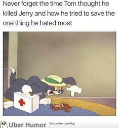 "35 Heartwarming Tidbits That'll Defrost Even The Iciest Of Hearts - Funny memes that ""GET IT"" and want you to too. Get the latest funniest memes and keep up what is going on in the meme-o-sphere. Tom And Jerry Memes, Tom Y Jerry, Tom And Jerry Cartoon, Stupid Funny, Funny Cute, The Funny, Daily Funny, Funny Tom, Funny Relatable Memes"