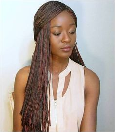 Long Brown Micro Braids # micro bob Braids 40 Ideas of Micro Braids and Invisible Braids Hairstyles Box Braids Hairstyles, Half Braided Hairstyles, Try On Hairstyles, Black Women Hairstyles, American Hairstyles, Micro Braids Styles, Types Of Braids, Braid Styles, Blonde Box Braids